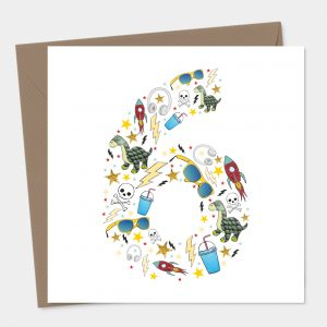 Boys 6 Birthday Card