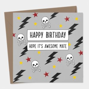Skulls Birthday Card