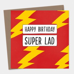 Super Lad Birthday Card