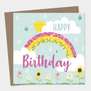 Happy Birthday Rainbow Card