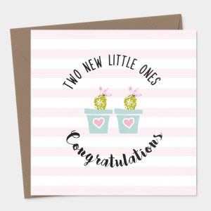 Congratulations New Baby Twins Card