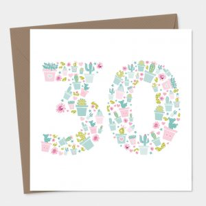 Cactus 30th Birthday Card